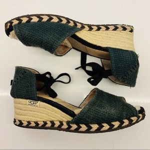 Ugg Australia Mar Espadrille Wedge Sandals Size 7